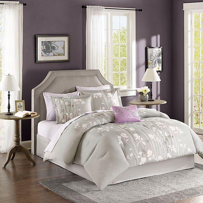 Alternate image 1 for Madison Park Essentials Vaughn 9-Piece King Comforter Set in Grey