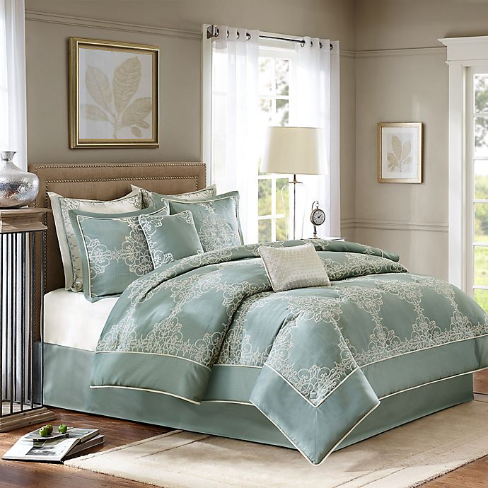 Alternate image 1 for Madison Park Signature Newhaven 8-Piece Comforter Set in Blue