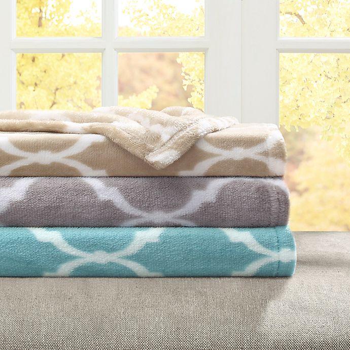 Alternate image 1 for Madison Park Ogee Oversized Throw Blanket