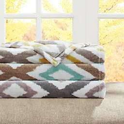Madison Park Ikat Diamond Oversized Throw
