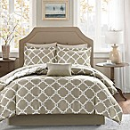 Madison Park Essentials Merritt 9-Piece Reversible Queen Comforter Set in Taupe