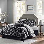 Madison Park Essentials Merritt 9-Piece Reversible Queen Comforter Set in Black