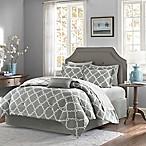 Madison Park Essentials Merritt 9-Piece Reversible King Comforter Set in Grey