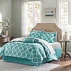 Madison Park Essentials Merritt 9-Piece Reversible Queen Comforter Set in Aqua
