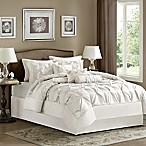Madison Park Laurel 7-Piece Full Comforter Set in White