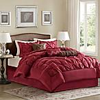Madison Park Laurel 7-Piece King Comforter Set in Red