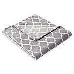 Madison Park Ogee Oversized Throw in Grey