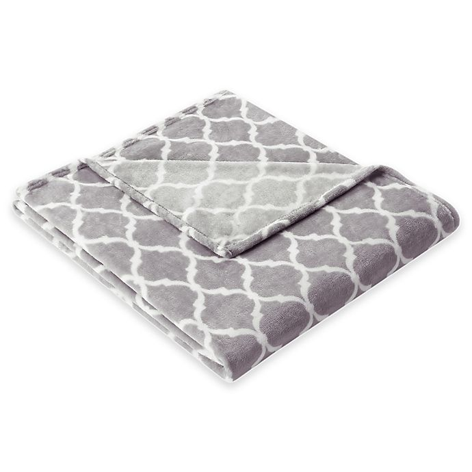 Alternate image 1 for Madison Park Ogee Oversized Throw in Grey