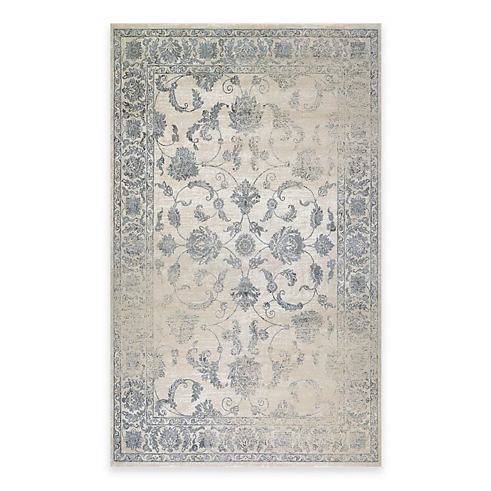 Alternate image 1 for Couristan® Provincia Botanic Applique 5-Foot 3-Inch x 7-Foot 6-Inch Area Rug in Beige/Grey