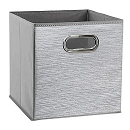 Relaxed Living Serenity Grey 11-Inch Square Collapsible Storage Bin