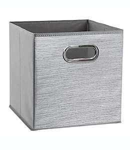 Contenedor de poliéster plegable Relaxed Living Serenity de 27.94 cm color gris