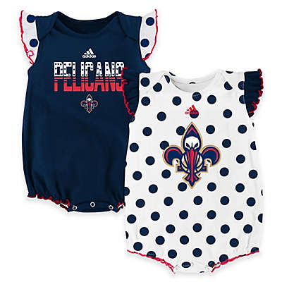 """NBA New Orleans Pelicans """"Polka Fan"""" Bodysuits (Set of 2)"""