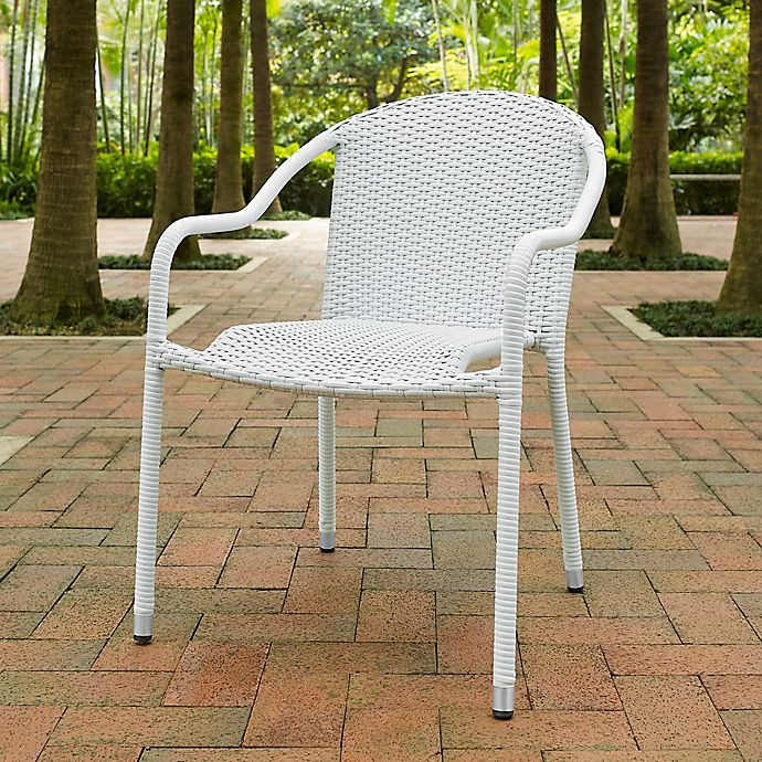 Alternate image 1 for Crosley Palm Harbor Wicker Stacking Chairs (Set of 4)