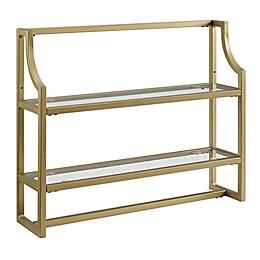 Crosley Aimee 2-Tier Wall Shelf in Gold