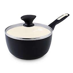GreenPan™ Rio Nonstick 2 qt. Ceramic Covered Saucepan in Black/Cream