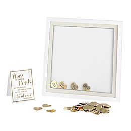 Lillian Rose™ Signing Hearts Shadow Box Frame in White