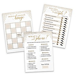 Lillian Rose™ 3-Piece Bridal Shower Games Set