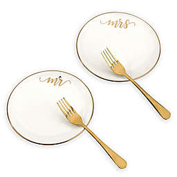 Lillian Rose™ 4-Piece Cake Plate and Fork Set