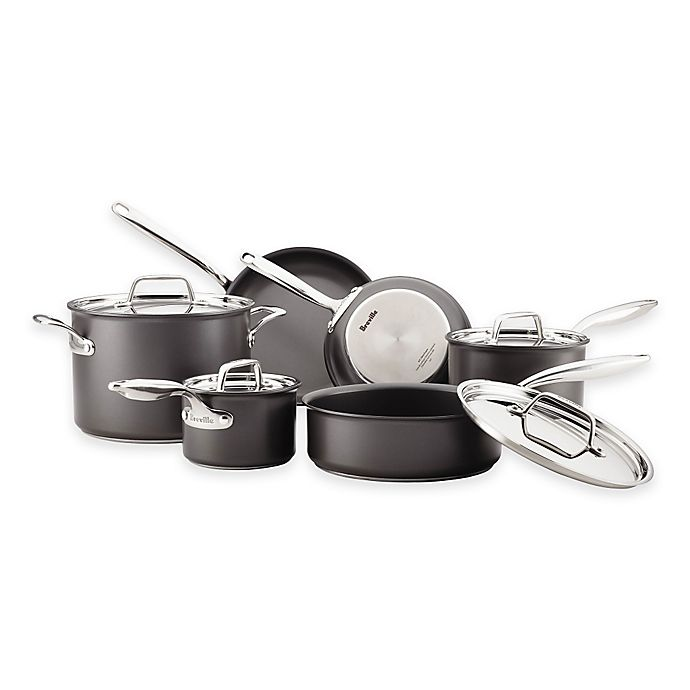 Alternate image 1 for Breville® Thermal Pro™ Hard Anodized Nonstick 10-Piece Cookware Set