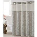Hookless Jacquard Tree Branch 71-Inch x 74-Inch Shower Curtain in Taupe