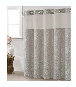 Cortina exterior de jacquard Hookless® para baño, 1.8 x 1.87 m color gris
