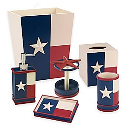 Avanti Texas State Flag Bath Ensemble in Red/White/Blue