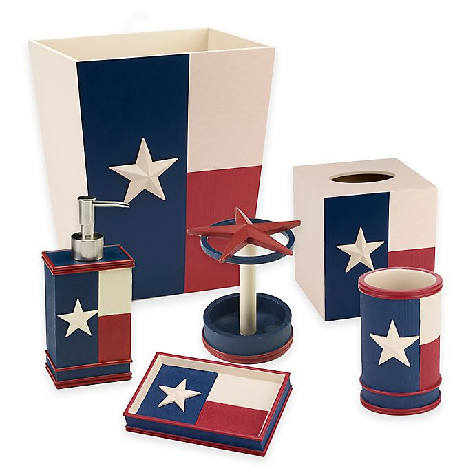 Alternate image 1 for Avanti Texas State Flag Bath Ensemble in Red/White/Blue