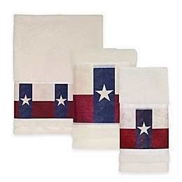 Avanti Texas State Flag Bath Towel Collection in Red/White/Blue