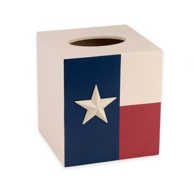 Avanti Texas State Flag Boutique Tissue Box Cover In Red