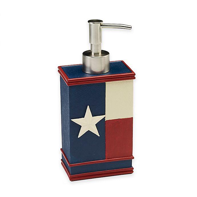 Alternate image 1 for Avanti Texas State Flag Lotion Dispenser in Red/White/Blue