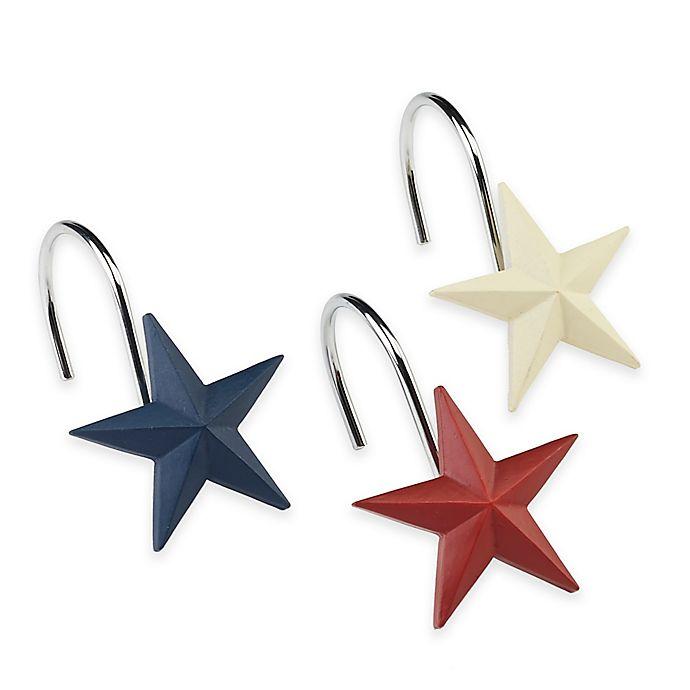 Alternate image 1 for Avanti Texas State Flag Shower Curtain Hooks (Set of 12)