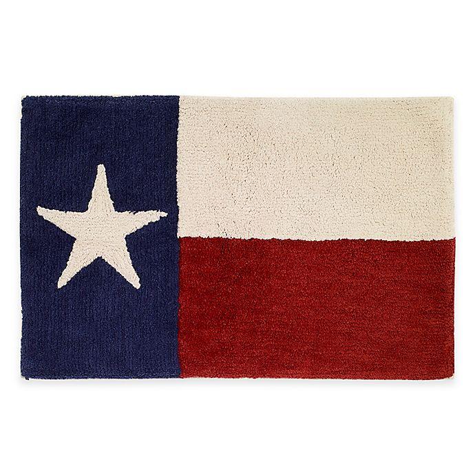 Alternate image 1 for Avanti Texas State Flag Bath Rug in Red/White/Blue