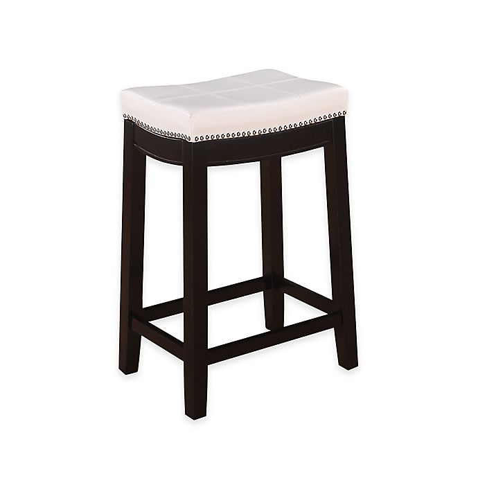 Alternate image 1 for Claridge Patches 24-Inch Counter Stool in White