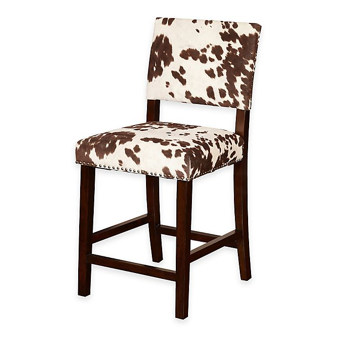 Alternate image 1 for Corey Udder Madness 24-Inch Counter Stool in Brown/White