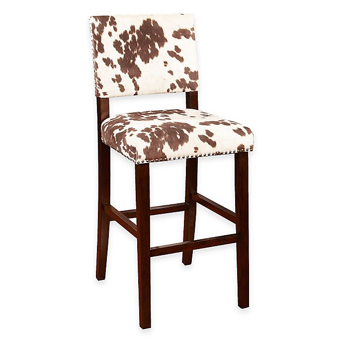 Alternate image 1 for Corey Udder Madness 30-Inch Bar Stool in Brown/White