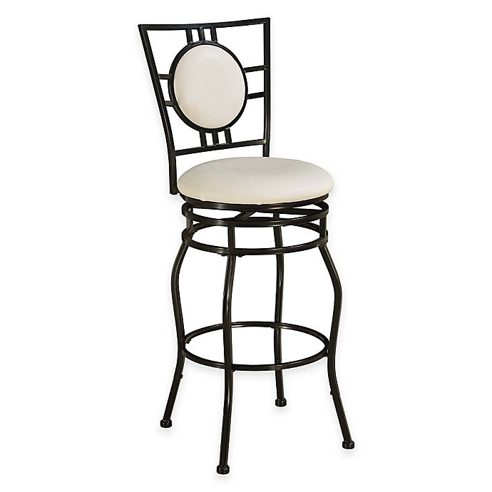 Townsend Adjustable Stool In White Bed Bath Amp Beyond