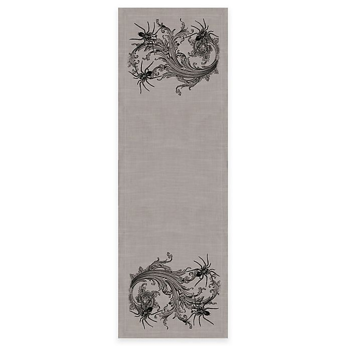 Alternate image 1 for Heritage Lace® Gothic Spiders Runner in Grey