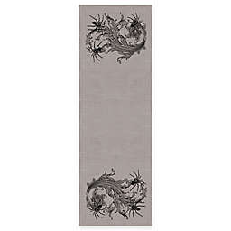 Heritage Lace® Gothic Spiders Runner in Grey