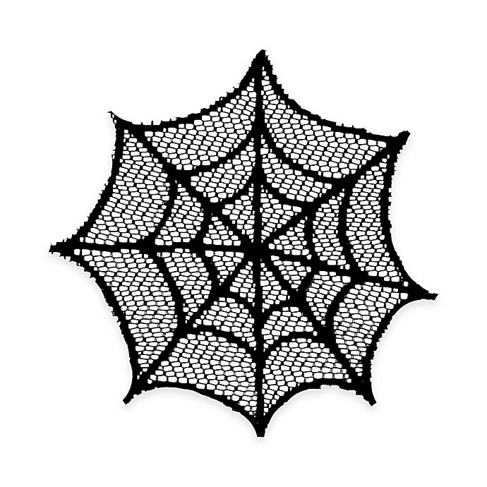 Heritage Lace 174 Spider Web Doilies In Black Set Of 4
