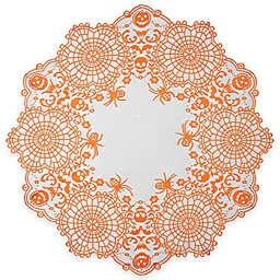 Heritage Lace® Frightful 36-Inch Round Topper in Orange/Black