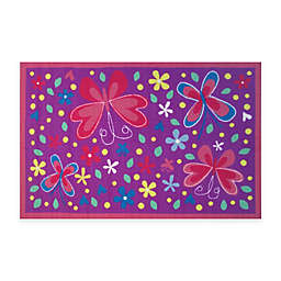 Fun Rugs™ Butterfly Valley 3-Foot 3-Inch x 4-Foot 10-Inch Accent Rug