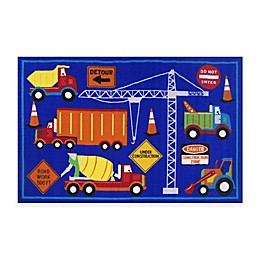 Fun Rugs™ Men at Work 3-Foot 3-Inch x 4-Foot 10-Inch Accent Rug