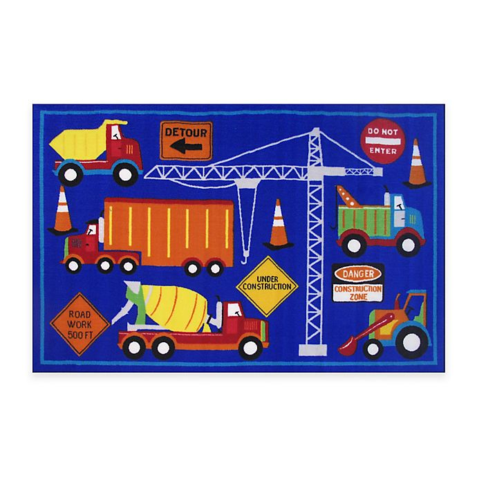 Fun Rugs Men At Work 3 Foot 3 Inch X 4 Foot 10 Inch Accent Rug