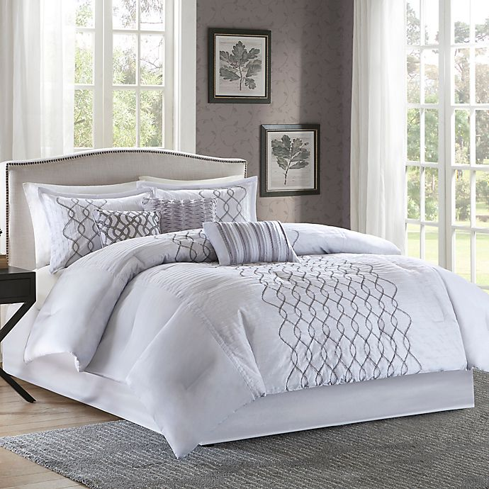 Bed Bath And Beyond Canada: Madison Park Iris Comforter Set In Silver