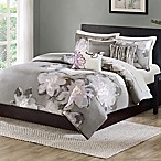 Madison Park Serena Full/Queen Duvet Cover Set in Grey