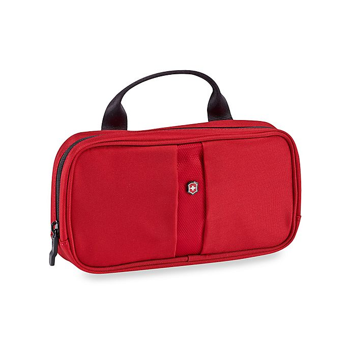 Alternate image 1 for Victorinox Small Toiletry Case in Red