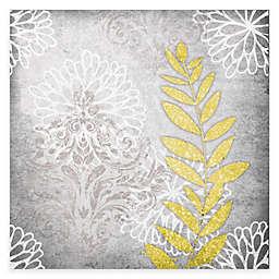 Courtside Market Grey Flower I 16-Inch x 20-Inch Canvas Wall Art