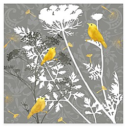 Courtside Market Grey and Gold Finch I Canvas Wall Art