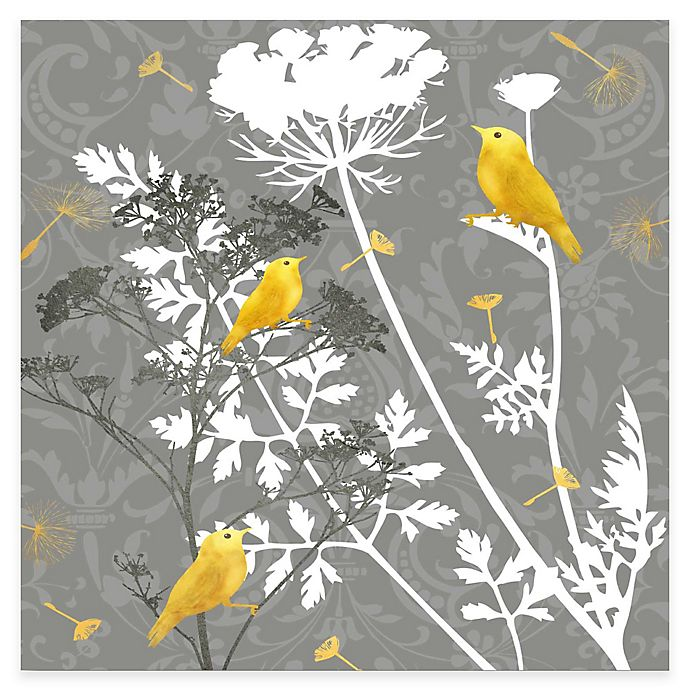Alternate image 1 for Courtside Market Grey and Gold Finch I Canvas Wall Art