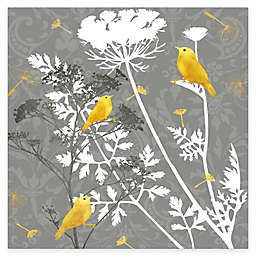 Courtside Market Grey and Gold FInch I 16-Inch x 20-Inch Canvas Wall Art